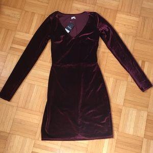 Hollister Velvet Bodycon Dress